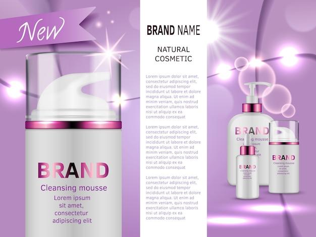 Maquillage glamour pour vecteur de cosmétologie