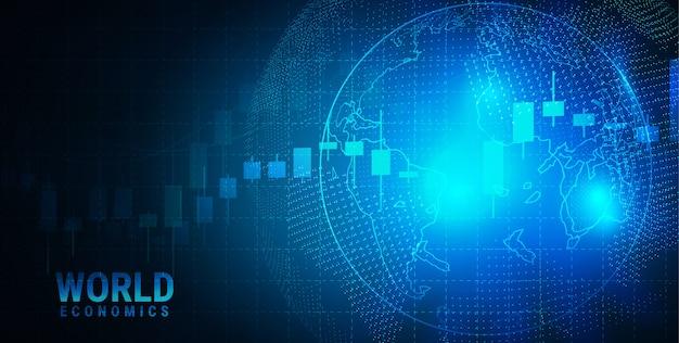 Marché boursier ou graphique de trading forex dans un concept graphique adapté à l'investissement financier ou à l'idée commerciale de tendances économiques et à toute la conception d'oeuvres d'art.