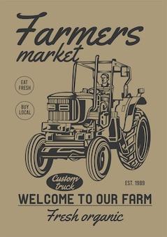Marché fermier bio frais