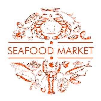 Marché de fruits de mer