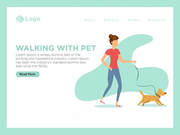 Marcher avec un animal