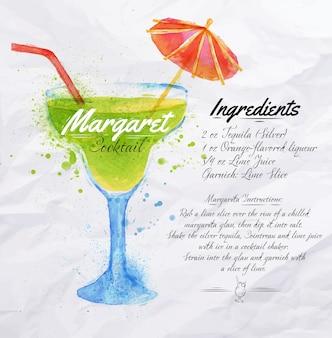 Margaret cocktails aquarelle