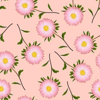 Marguerite sur fond rose