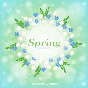 Marguerites cadre printemps fond
