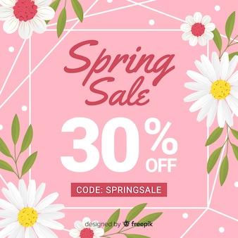 Marguerites printemps vente fond