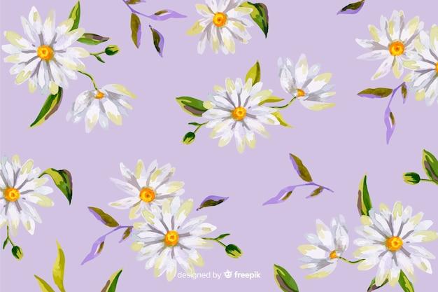 Marguerites style décor aquarelle