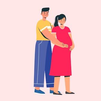 Mari et femme enceinte
