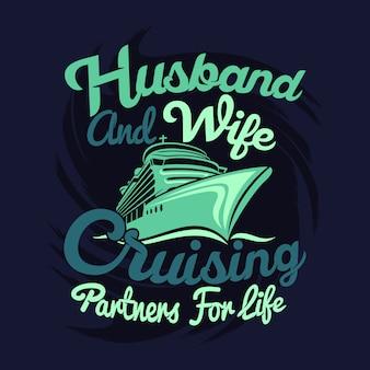 Mari et femme partenaires de croisière pour la vie