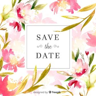 Mariage à l'aquarelle réserver la date