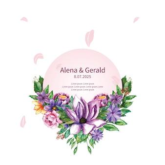 Mariage de bouquet de fleurs botaniques vintage