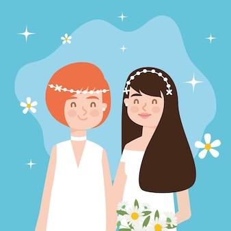 Mariage couple de lesbiennes