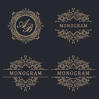 Mariage avec logo de luxe