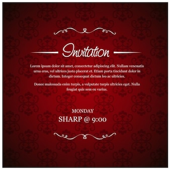 Mariage rouge carton d'invitation