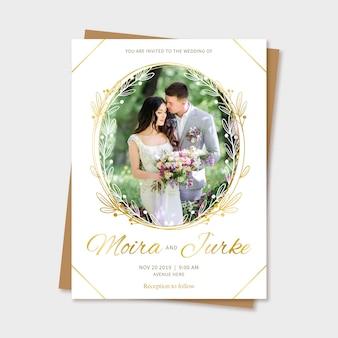 Mariage sauvegarder l'invitation de date avec photo
