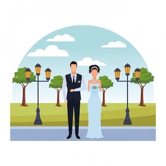 Le marié et la mariée