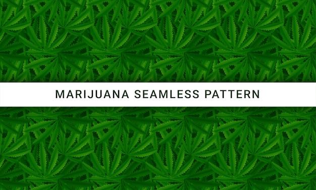 La marijuana laisse modèle vectorielle continue
