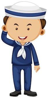 Marin en uniforme bleu
