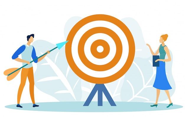 Marketing ciblé, objectif, objectif, réalisation