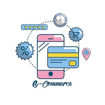 Marketing digital to shopping réseau en ligne
