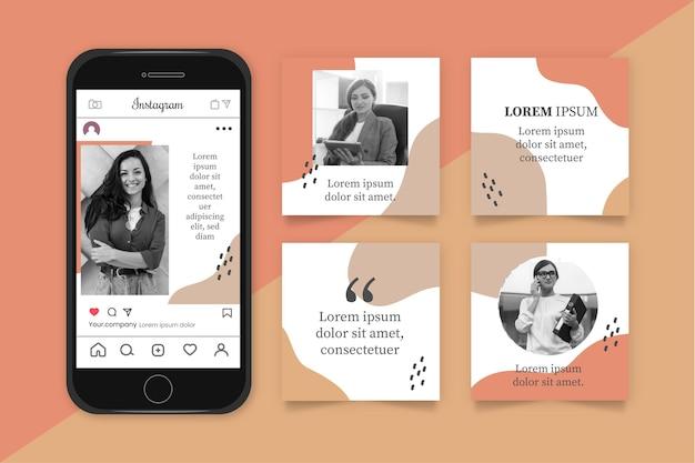 Marketing d'entreprise instagram post colelction