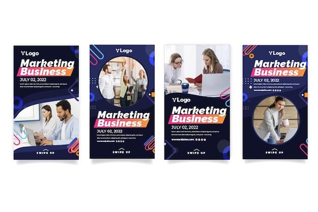 Marketing d'histoires instagram d'affaires
