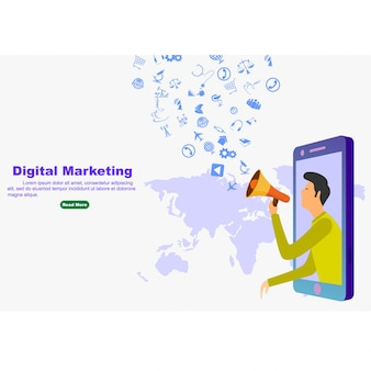 Marketing numérique pour bannière et site web