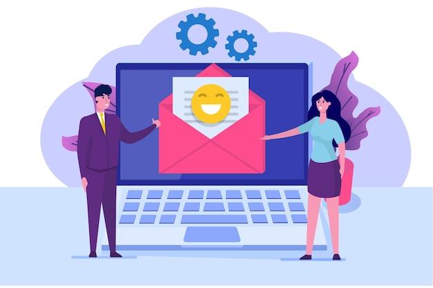 Marketing par e-mail, concept d'abonnement