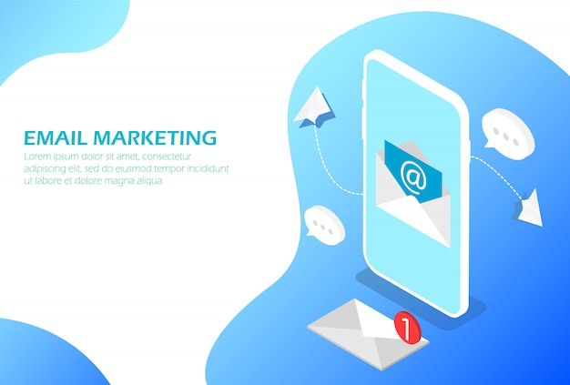 Marketing par e-mail sur smartphone