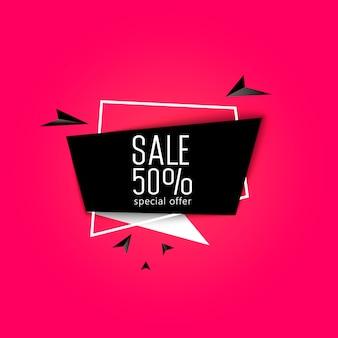 Marketing promotionnel et offre spéciale 50 pour cent