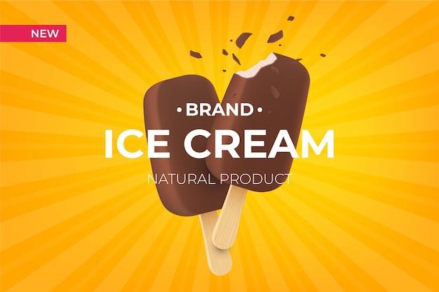 Marque de crème glacée réaliste
