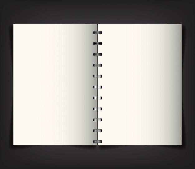 Marque d'identité d'entreprise, avec le cahier ouvert