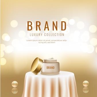 Marque de luxe, modèle de bannière de soins de la peau