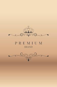 Marque premium ornementale
