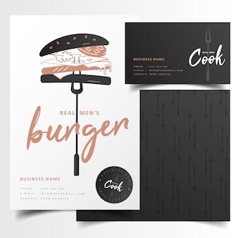 Marque de restaurant de hamburger noir moderne