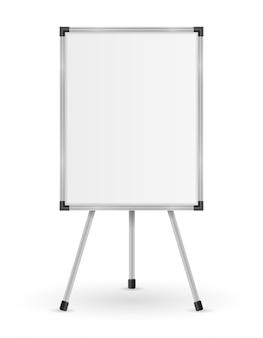 Marqueur magnétique de tableau blanc vide pour la formation et l'éducation de présentations isolées sur le blanc