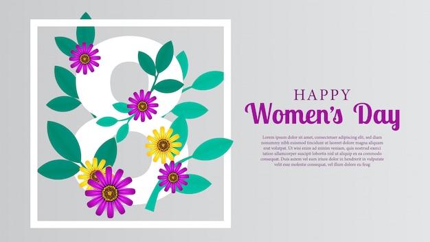 Mars jour de la femme heureuse