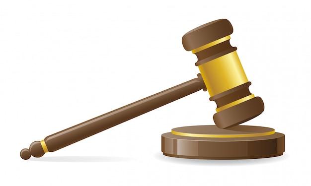 Marteau judiciaire ou aux enchères.