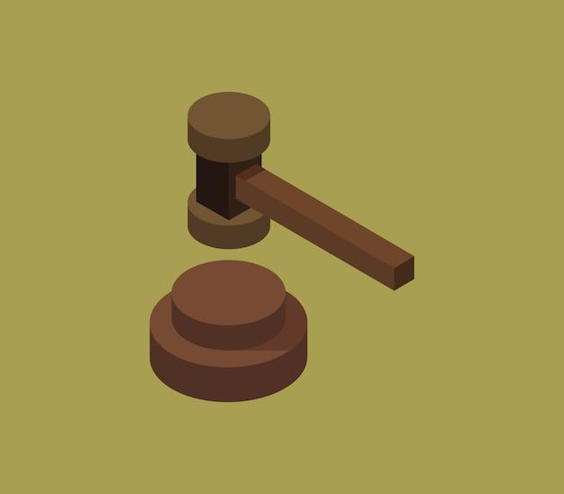Marteau de juge isométrique