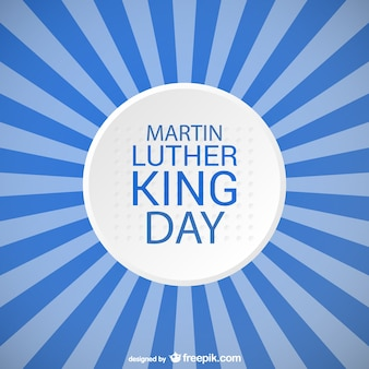 Martin luther king day conception de rayures bleues