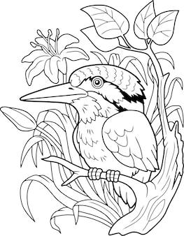 Martin-pêcheur d'oiseau