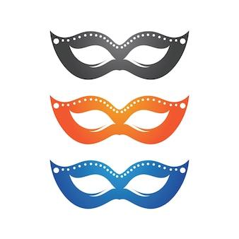 Mascarade carnaval masque icône et symbole vecteur