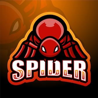 Mascotte d'araignée esport illustration