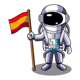 Mascotte d'astronaute galaxy chibi