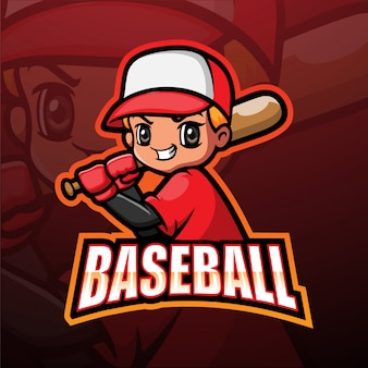 Mascotte de baseball esport illustration