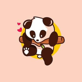 Mascotte de bébé panda mignon