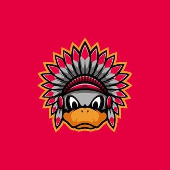 Mascotte de canard apache