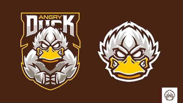 Mascotte de canard en colère