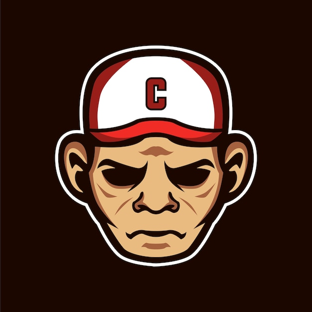 Mascotte capitaine sports logo