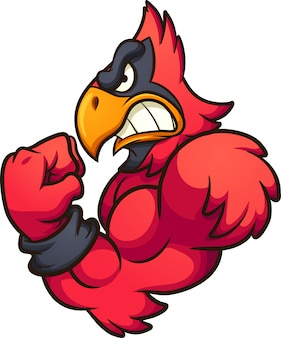 Mascotte de cardinal rouge