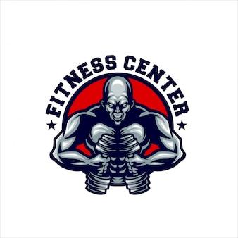 Mascotte de centre de fitness